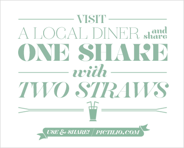 Visit a local diner and share one milkshake with two straws.